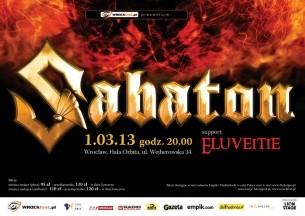 Bilety na koncert Sabaton, Eluveitie we Wrocławiu - 01-03-2013
