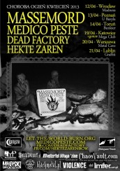 Koncert MASSEMORD sieje chorobę i pożogę w kwietniu! w Lublinie - 21-04-2013