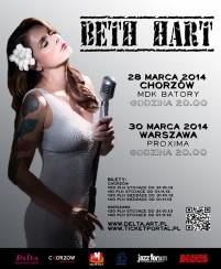 Koncert Beth Hart w Warszawie - 30-03-2014