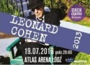 Bilety na koncert Leonard Cohen 2013 w Łodzi - 19-07-2013