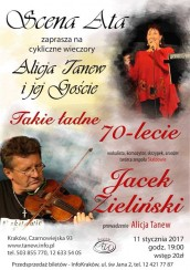 """Koncert """"Takie ładne 70-lecie..."""" - spotkanie z Jackiem Zielińskim z zespołu Skaldowie w Krakowie - 11-01-2017"""