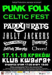 Koncert MOLLY MALONE'S, Cheers, Selfish Murphy, Paddy and the Rats, Jolly Jackers, O'HAMSTERS w Krakowie - 17-11-2018