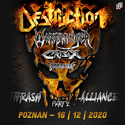 Bilety na koncert Destruction w Poznaniu - 16-12-2020