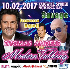 w Walentynki: Thomas Anders & Modern Talking Band, Savage i inni - bilety na koncert