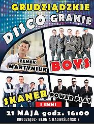 Bilety na koncert Grudziądzkie Disco Granie - Martyniuk, Boys, Power Play, Skaner i inni - 21-05-2017