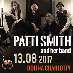 Bilety na 11.Festiwal Legend Rocka: Patti Smith and her band, support: Voo Voo