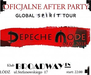 Bilety na koncert After Party po koncercie Depeche Mode w Łodzi - 09-02-2018